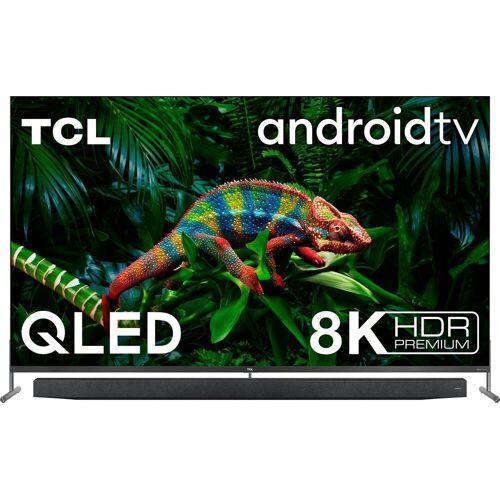 TCL 75X915X1 QLED-Fernseher (189 cm/75 Zoll, 8K, Smart-TV, mit integrierter, ausfahrbarer Kamera und ONKYO Soundsystem), Energieeffizienzklasse G