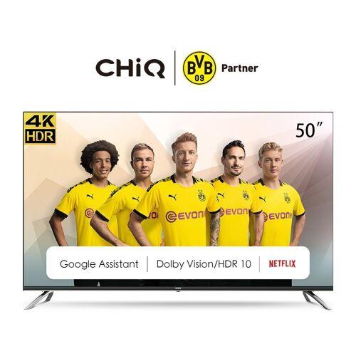 ChiQ U50H7A LED-Fernseher (50 Zoll, 4K Ultra HD, Smart-TV), Energieeffizienzklasse G