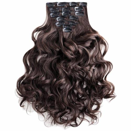 MyBeautyworld24 Haarclip »Clip In Extensions Haarverlängerung Set – 7 Haarteile Extensions Haarverlängerung 60 cm«, braun