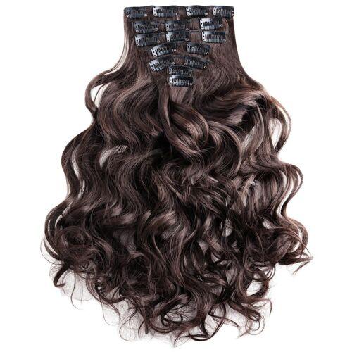 MyBeautyworld24 Haarclip »Clip In Extensions Haarverlängerung Set – 7 Haarteile Extensions Haarverlängerung 60 cm«, braun