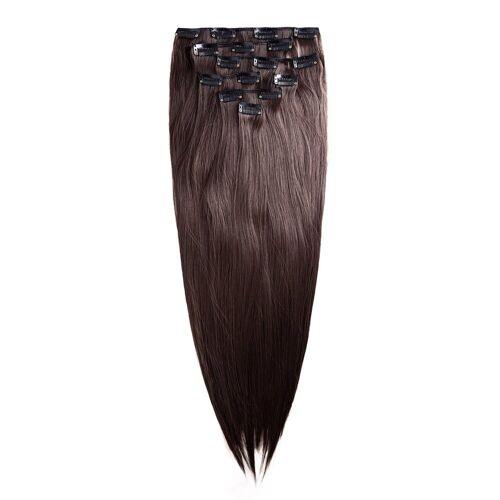 MyBeautyworld24 Haarclip »Clip In Extensions Haarverlängerung Set – 7 Haarteile glatt Extensions Haarverlängerung 60 cm«, braun