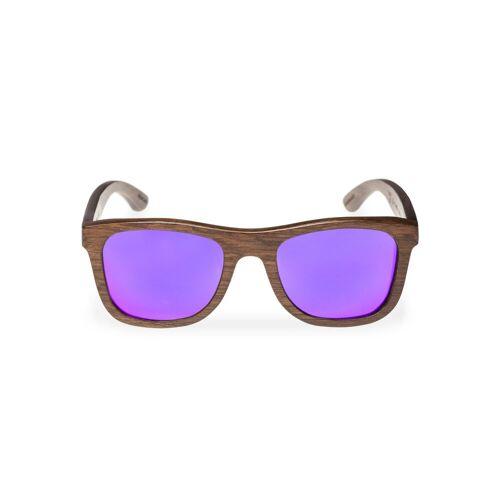 WOOD FELLAS Sonnenbrille mit UV 400 Sonnenschutz, braun/lila