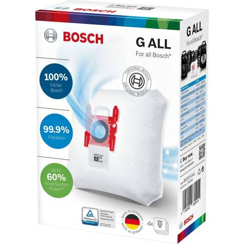 Bosch Staubsaugerbeutel Staubsaugerbeutel (4+1) Typ GALL, 4 Stück