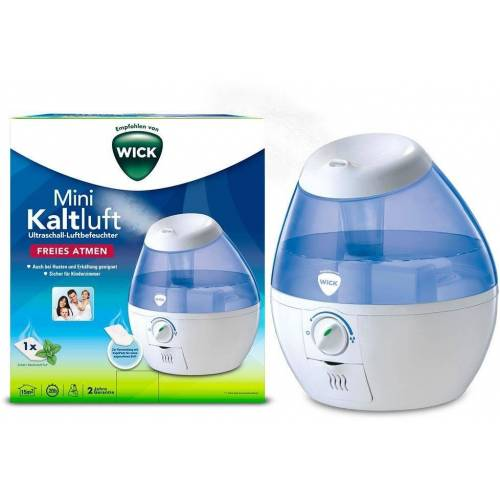 WICK Luftbefeuchter WUL520, 1,8 l Wassertank, Mini Kaltluft Ultraschall Luftbefeuchter