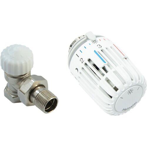 Heizkörperthermostat »Eck«, Thermostatventil und Kopf, weiß