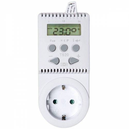 tectake »Thermostat für Steckdose TS20« Smartes Heizkörperthermostat