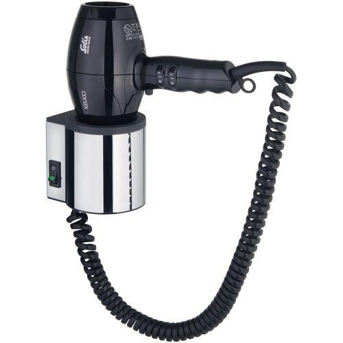 Keuco Haartrockner-Halter »Plan«, mit Haartrockner, 230 Volt, schwarz-grau/chromfarben