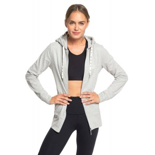Roxy Yoga-Sweatjacke »Out In LA A«, grau