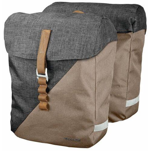 racktime Fahrradtasche »Heda« (2-tlg), sand/grau