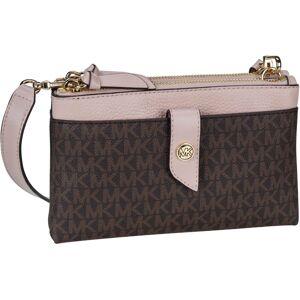 MICHAEL KORS Umhängetasche »MK Charm Medium Tab Phone Xbody MK Signature«, Brown/Soft Pink