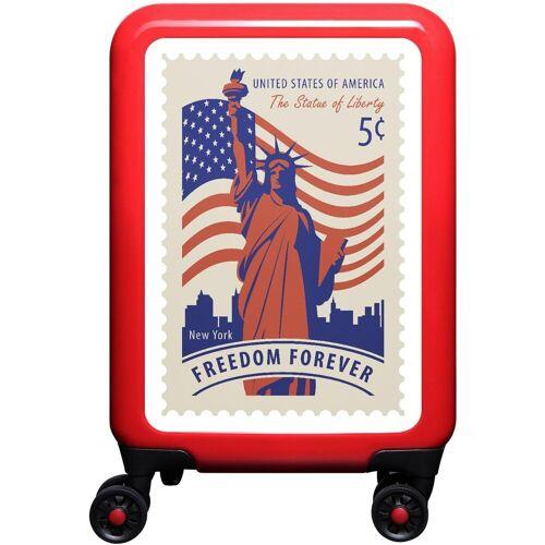 Hartschalen-Trolley »New York, 55 cm«, 4 Rollen, rot