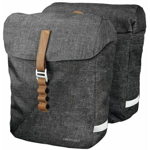 racktime Fahrradtasche »Heda« (2-tlg), grau