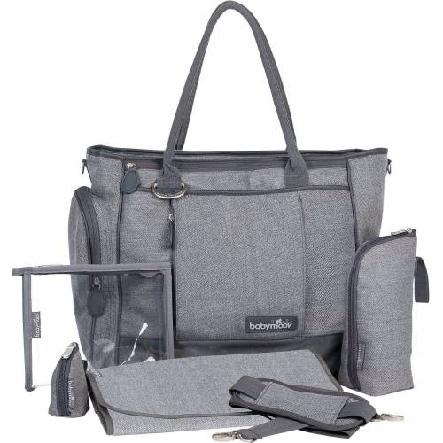 BABYMOOV Wickeltasche »Wickeltasche Essential Bag, grau meliert«, grau