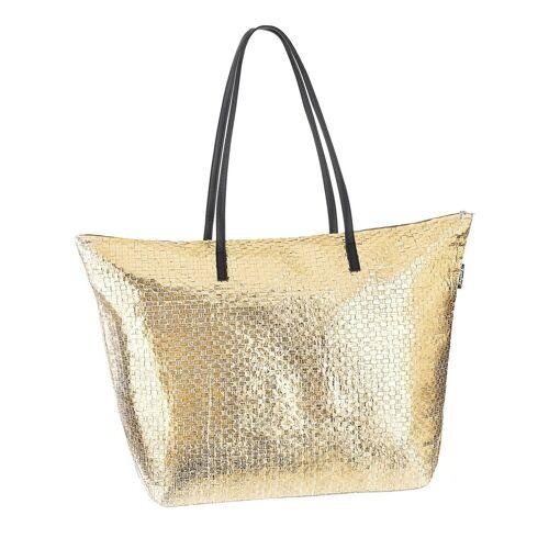 Fashy Strandtasche mit Reissverschluss, goldfarben