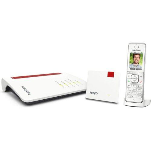 AVM FRITZ! Home-Office-Set »Box 7530 + Repeater 1200 + Fon C6«, Weiß-Rot