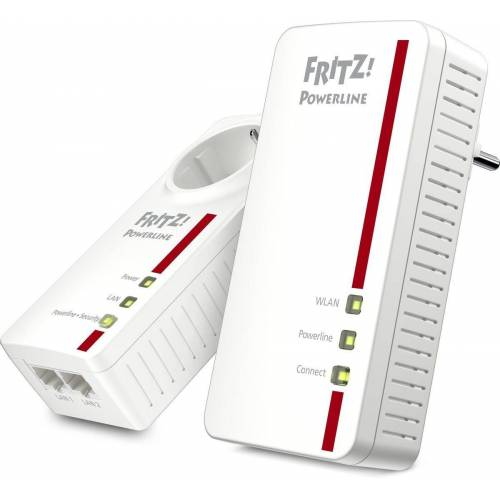 AVM Powerline »FRITZ!1260E WLAN AC Set 1200 MBit«, Weiß-Rot