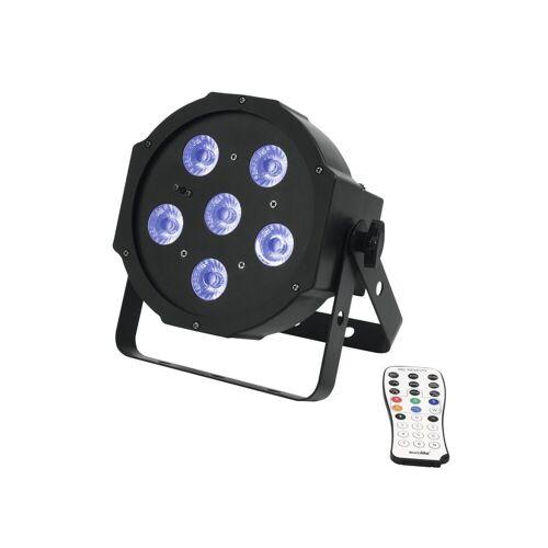 EuroLite Discolicht »UV Schwarzlicht LED Spot 6x3W - DMX Ansteuerung - 13° Abstrahlwinkel - Musiksteuerung - Fernbedienung«