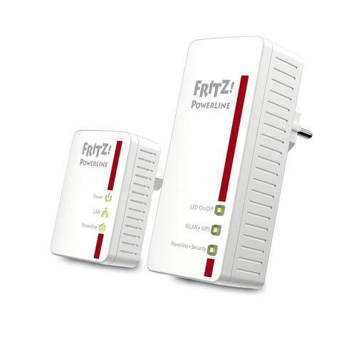 AVM Powerline »FRITZ!Powerline 540E WLAN Set (500 MBit/s)«, Weiß