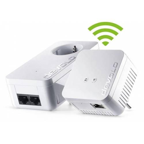 Devolo dLAN 550 WiFi Kit »Powerline + WLAN 500Mbit, 1xLAN,Repeater,range+«, weiß