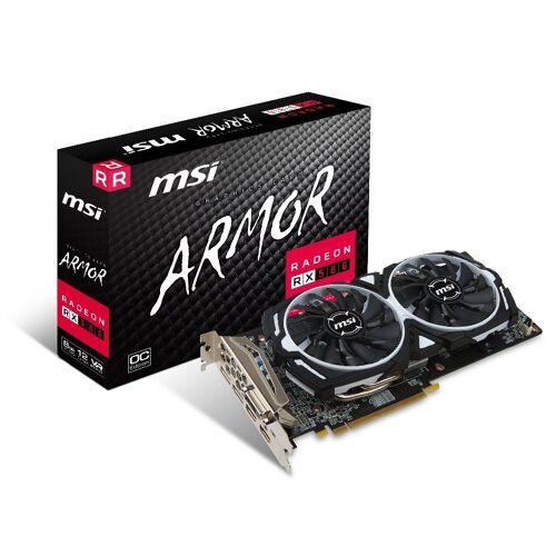 MSI VGA Radeon RX 580 ARMOR 8G OC Grafikkarte (8 GB, GDDR5, Torx Fan)