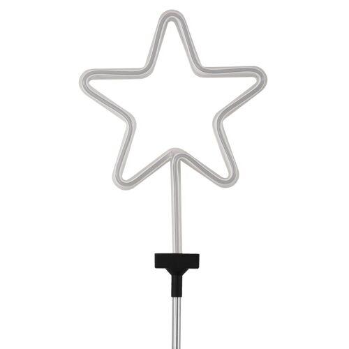 BONETTI Gartenstecker »Stern« LED Neon Stab für den Garten