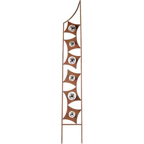 Home affaire Deko-Windrad »Rusty Metal«, in Rostoptik, Materialmix, 190 cm hoch