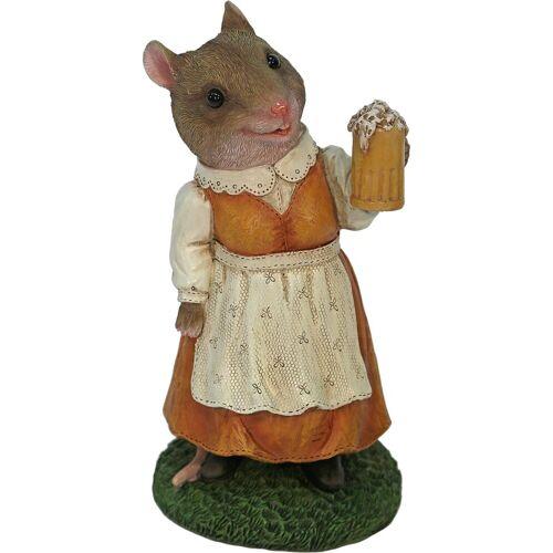 Home affaire Tierfigur »Frau Maus im Kleid mit Bierglas«
