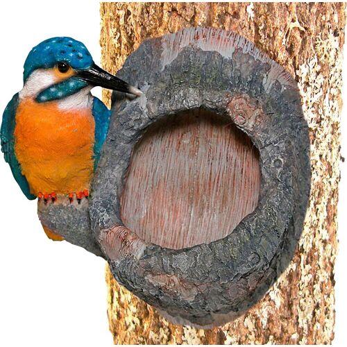 Home affaire Dekofigur »Eisvogel am Stamm«, mit Baumbefestigung