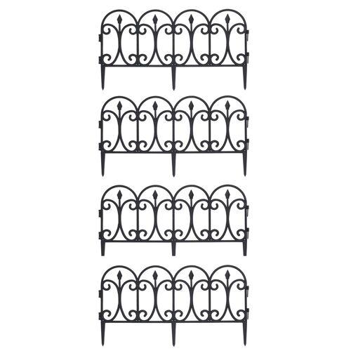 HTI-Line Beeteinfassung 4er Set »Ornament«, Schwarz
