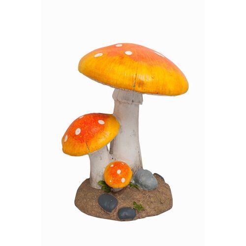 HTI-Line Gartendeko »Fliegenpilz«, Orange, Rot