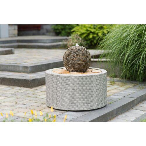Ubbink Brunnenumrandung »DecoWall Wicker 7«, Ø/H 72,5/38,5 cm, grau, grau