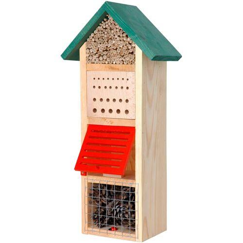 dobar Insektenhotel »Turm mit Spitzdach«, BxTxH: 22,5x14x50 cm, braun