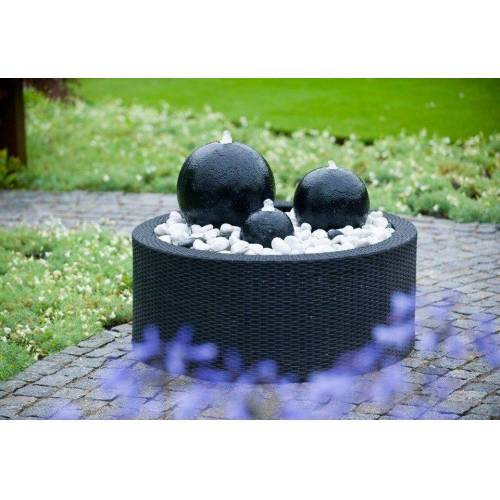 Ubbink Brunnenumrandung »DecoWall Wicker 2«, schwarz