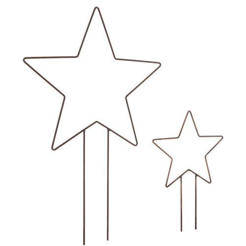 dio Only for You. Gartenstecker »Stern« (Set, 2-St) in Rostoptik, Ø 30 cm + Ø 40 cm
