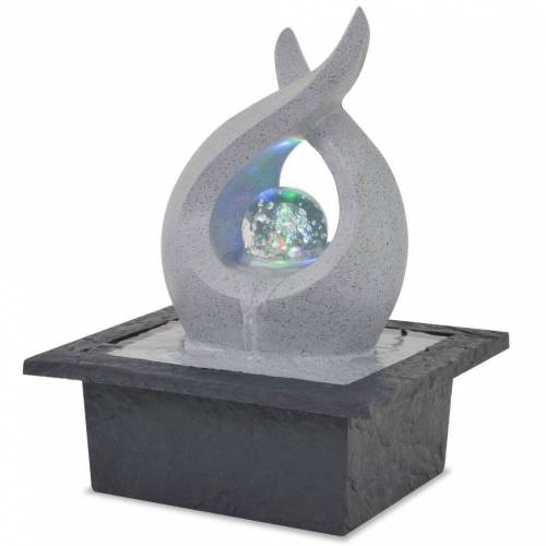 vidaXL Zimmerbrunnen »Zimmerbrunnen mit LED Polyresin«