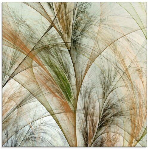 Artland Glasbild »Fraktales Gras IV«, Gräser (1 Stück)