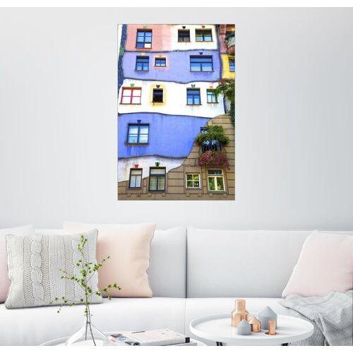 Posterlounge Wandbild, Hundertwasser-Haus