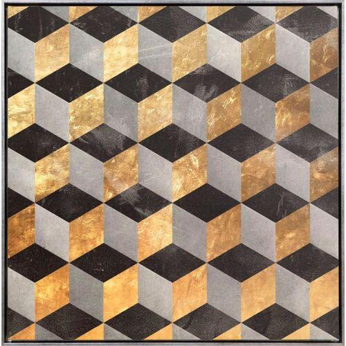 Leinwandbild »Würfel Abstrakt in Gold - Leinwandbild«