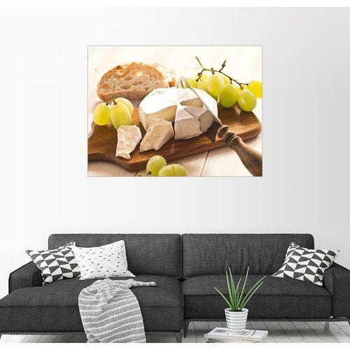 Posterlounge Wandbild, Käse und Weintrauben