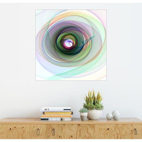 Posterlounge Wandbild, Bunte Spirale