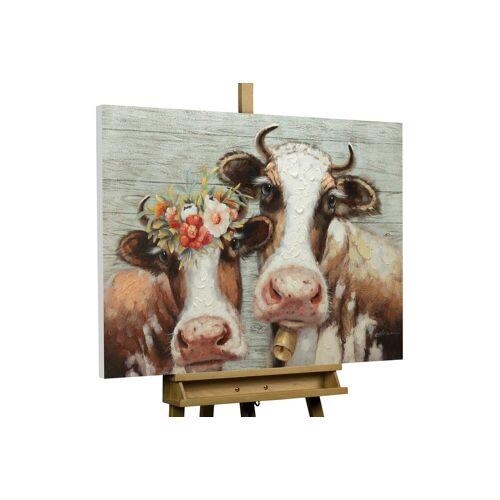 KUNSTLOFT Gemälde »Almköniginnen«, handgemaltes Bild auf Leinwand