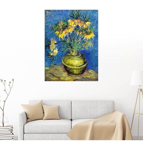 Posterlounge Wandbild, Kaiserkronen in einer kupfernen Vase