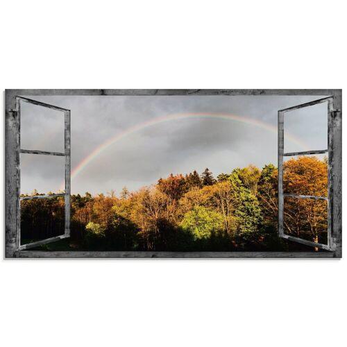 Artland Glasbild »Fensterblick - Regenbogen«, Fensterblick (1 Stück)
