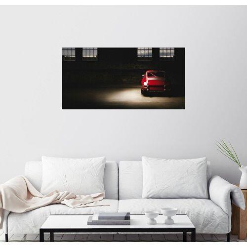 Posterlounge Wandbild, Premium-Poster Roter Porsche 911