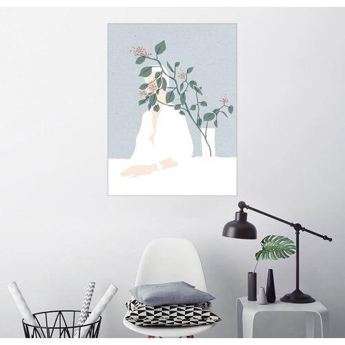Posterlounge Wandbild, Beerenstrauch und Vase