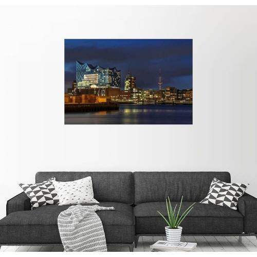 Posterlounge Wandbild, Hafencity mit Elbphilharmonie