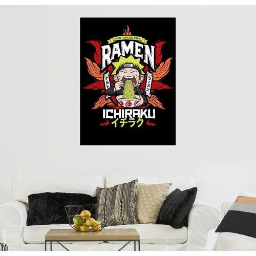 Posterlounge Wandbild, Leinwandbild Naruto isst Ramen