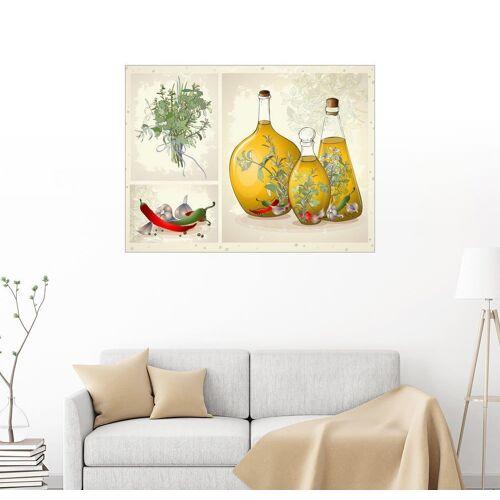 Posterlounge Wandbild, Küchenkräuter Collage