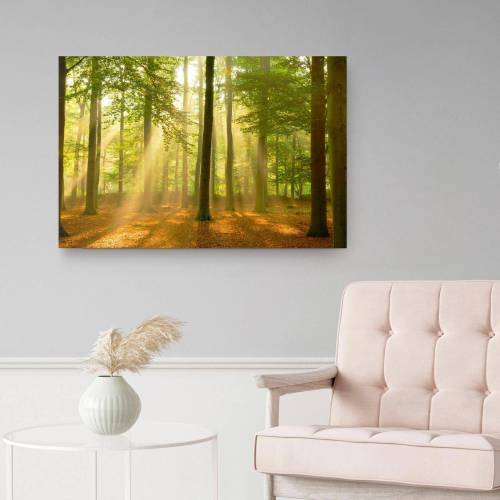 Sunbeam Holzbild »Deco Panel 60x90 Sunbeam Forest«