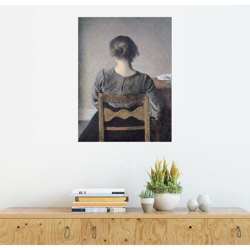 Posterlounge Wandbild - Vilhelm Hammershoi »Ruhe«, grau